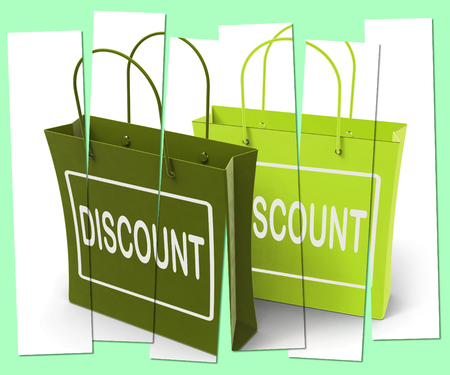 markdown: Discount Shopping Bags Showing Bargains and Markdown Products