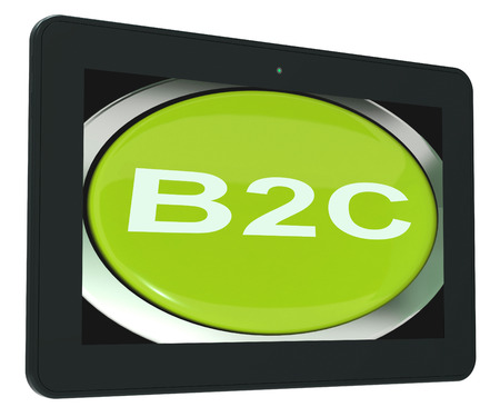 b2c: B2c Tablet Meaning Business To Consumer Buying Or Selling