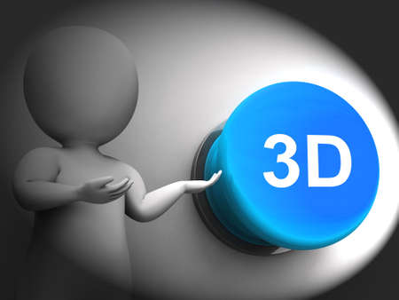 3d dimensional: 3d Pressed Meaning Three Dimensional Object Or Image Stock Photo