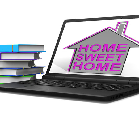 homely: Home Sweet Home House Laptop Meaning Homely And Comfortable