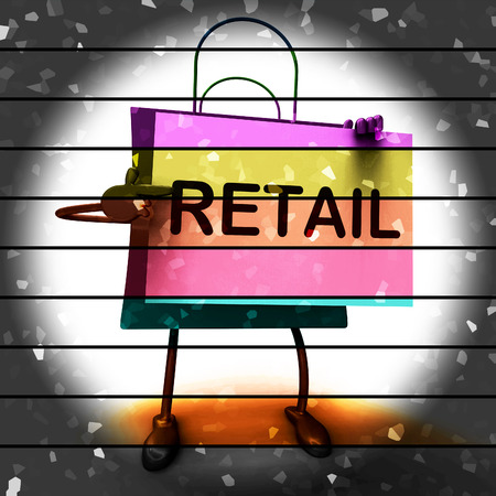 merchandiser: Retail Shopping Bag Showing Consumer Selling Or Sales Stock Photo