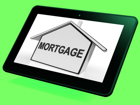 Mortgage House Tablet Showing Property Loans And Repayments photo