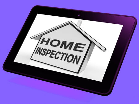 Home Inspection House Tablet Meaning Assessing And Inspecting Property