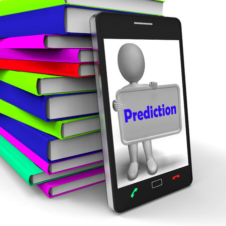 estimate: Prediction Phone Showing Estimate Forecast Or Projection