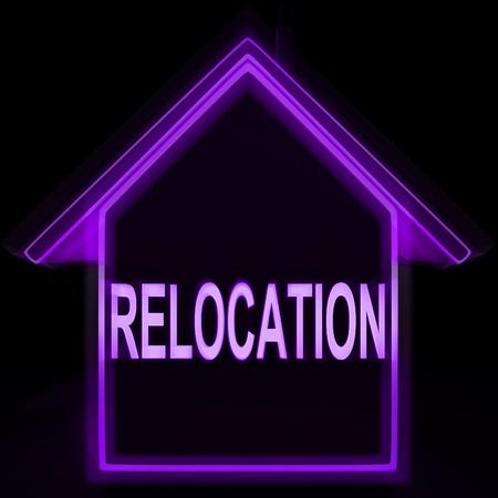 lak�hely: Relocation Otthon Jelentése Új Residency vagy cím Stock fotó