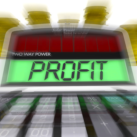 calculated: Profit Calculated Meaning Surplus Income And Revenue Stock Photo