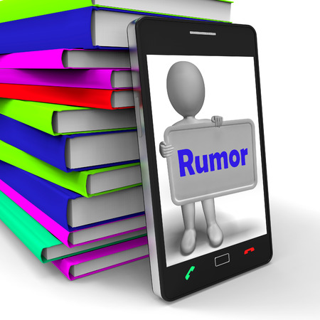 tattle: Rumor Phone Meaning Spreading False Information And Gossip Stock Photo