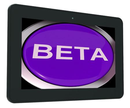 beta: Interruttore Beta Mostrando sviluppo o Demo Version Archivio Fotografico