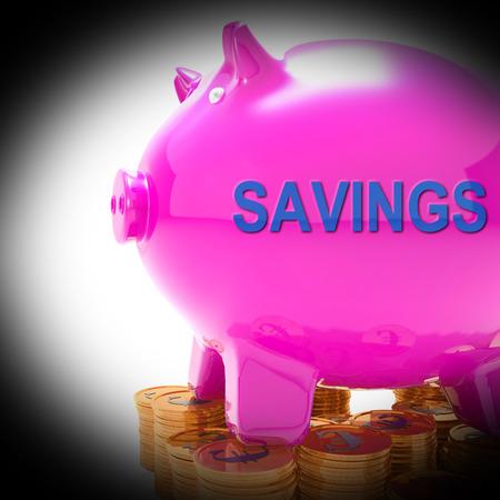 bankkonto: Einsparungen Sparschwein M�nzen Bedeutung Ersatzfonds und Bankverbindung