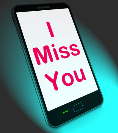 i miss you: I Miss You On Mobile Meaning Sad Longing Relationship