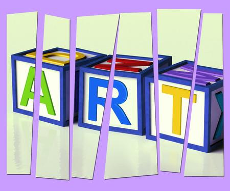 originality: Art Letters Showing Inspiration Creativity And Originality