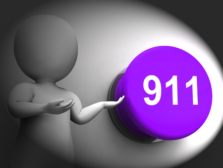 emergency number: 911 Pressed Showing Emergency Number And Services