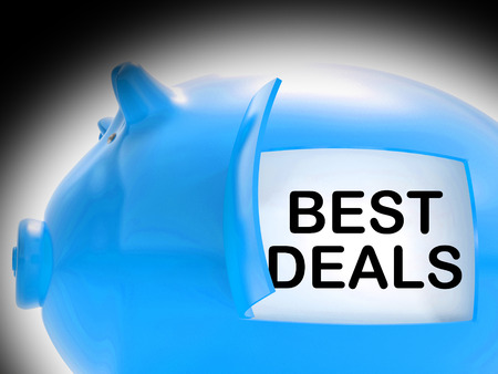 Best Deals Piggy Bank Message Showing Great Offers photo