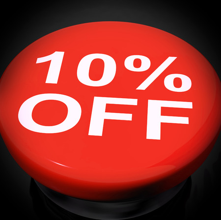 markdown: Ten Percent Switch Showing Sale Discount Or 10 Off