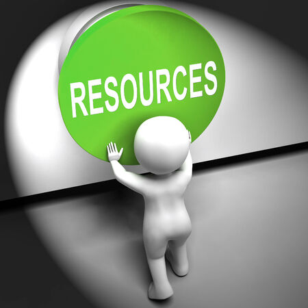 allocate: Resources Pressed Meaning Funds Capital Or Staff Stock Photo