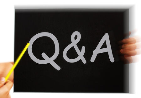 Q&A Message Meaning Questions Answers And Assistance Stock Photo
