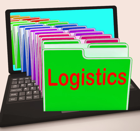 coordination: Logistics Folders Laptop Meaning Planning Organization And Coordination