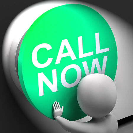 Call Now Pressed Showing Assistance And Support Center