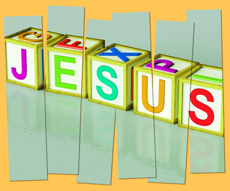 messiah: Jesus Word Showing Son Of God And Messiah Stock Photo