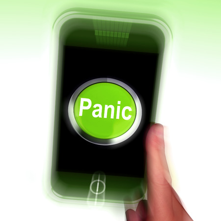 panicky: Panic Mobile Meaning Anxiety Distress And Alarm