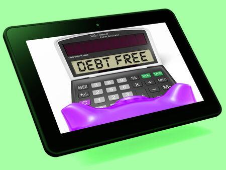 compromisos: Deuda Calculadora Gratis Tablet Significado No hay pasivos o deudas
