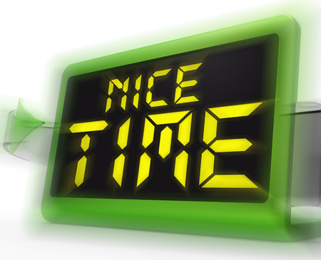 pleasant: Nice Time Digital Clock Meaning Enjoyable And Pleasant Experience