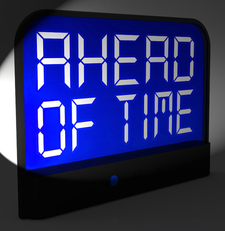 than: Ahead Of Time Digital Clock Showing Earlier Than Expected