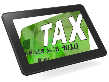 calculated: Tax On Credit Debit Card Calculated Showing Taxes Return IRS