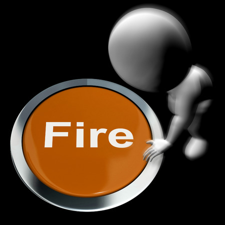 evacuate: Fire Pressed Meaning Emergency Evacuation And 111 Stock Photo