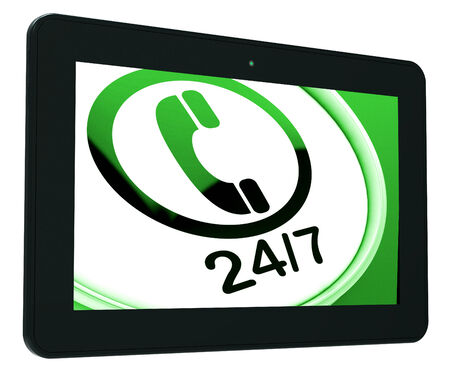 24x7: Twenty Four Seven Tablet Showing Open 247