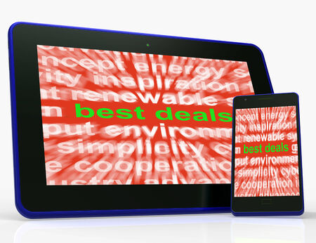 reduced value: Best Deals Tablet Meaning Low Prices Or Amazing Offers