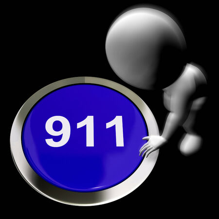Nine One One Pressed Showing 911 Emergency Or Crisis photo