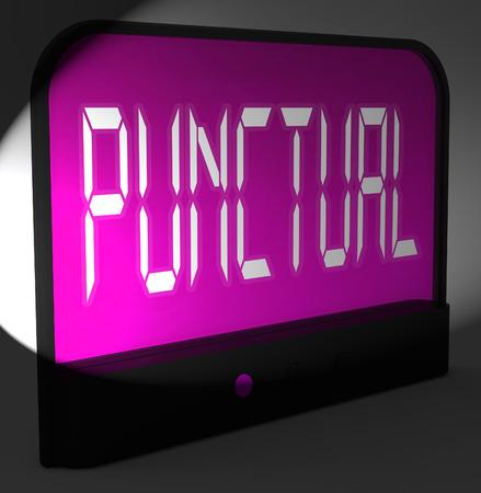 punctual: Puntual Reloj digital mostrando Horario Oportuno And On
