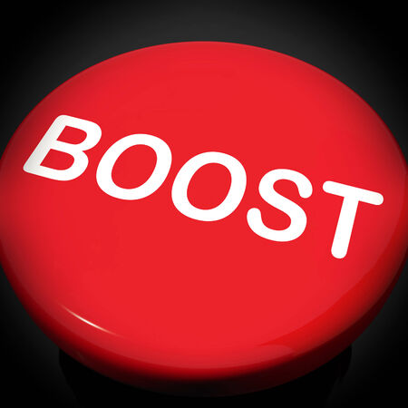 encouraged: Boost Switch Showing Promote Increase Encourage Stock Photo