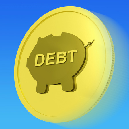 obliged: Debt Gold Coin Meaning Money Borrowed And Owed