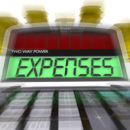 outgoings: Expenses Calculated Showing Business Expenditure And Bookkeeping