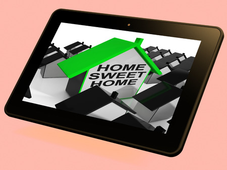 familiar: Home Sweet Home House Tablet Means Cozy And Familiar