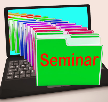 roundtable: Seminar Folders Showing Convention Presentation Or Meeting
