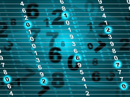 numeracy: Tech Digital Indicating Computing Numeracy And Network Stock Photo