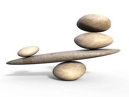 valor: Piedras del balneario Significado igual valor y el equilibrio de