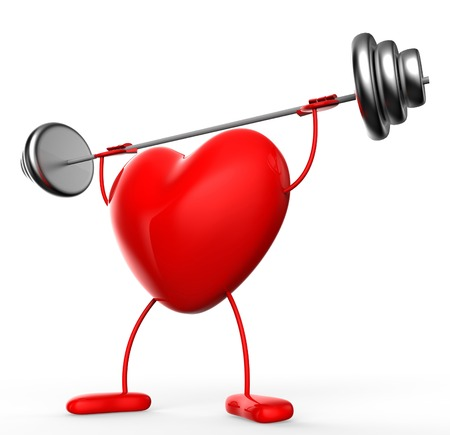 Heart Fitness Showing Physical Activity And Aerobic