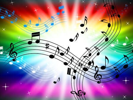 clave de fa: Color Sunrays que indican Bass Clef y Sonido Foto de archivo