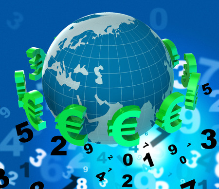 foreign currency: Forex Euros Showing Foreign Currency And Broker