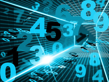 tec: Numbers Mathematics Showing High Tec And Computing