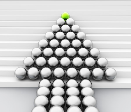 sphere of influence: Spheres Leader Showing Team Work And Guidance Stock Photo