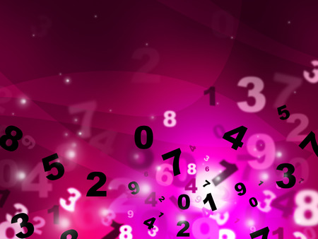 tec: Pink Calculate Meaning High Tec And Count Stock Photo