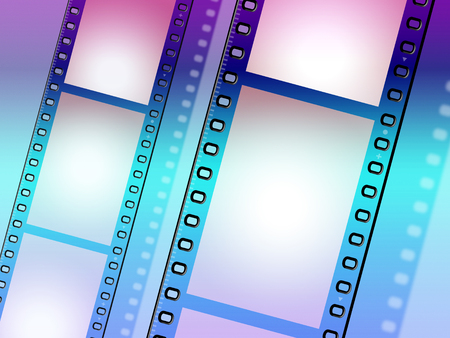 Copyspace Background Showing Camera Film And Cinematography Stock Photo