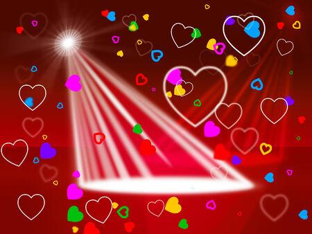 fari da palco: Spotlight Rosso Indicazione fase luci e illuminate