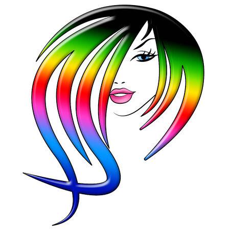 attractiveness: Coloraci�n del cabello Indicando Cuidado Facial Y Cuidado del Cabello
