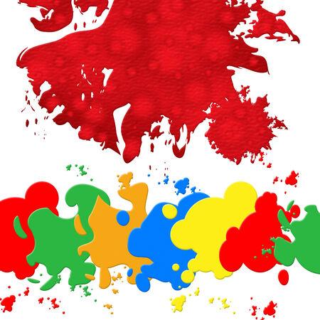 blotch: Splash Paint Representing Blotch Painter And Blobs